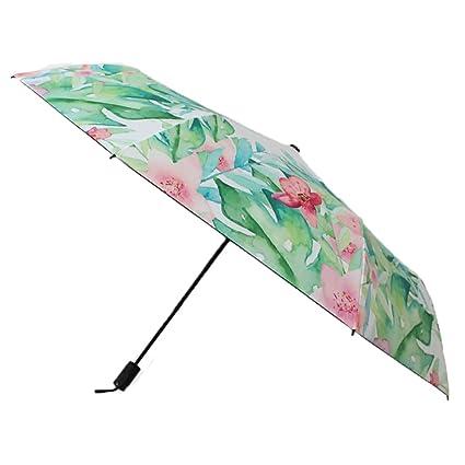 AFCITY Mujer Hombre Paraguas Viaje Sombrilla Plegables del Verano de Las Mujeres exquisitas Sombrilla al Aire