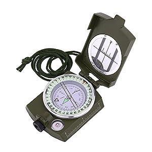 Sportneer Military Lensatic Sighting Compass Carrying Bag, Waterproof Shakeproof, Army Green