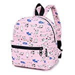 """Lily & Drew Lightweight Travel Backpack for Women and Teens 11 MEDIUM size 15-inch backpack. Please note there are two sizes: small and medium. This medium-sized backpack is 15.5"""" tall x 11.5"""" wide x 6.3"""" deep. Binders, folders and laptop computers will fit. See pictures and description for reference and further details. POCKETS. Two side pockets for water bottles, sun-glasses, etc. Front zippered pocket for small items such as pens, phone, etc. Large main compartment with heavy-duty double zippers for big items such as laptop, binder, books, notebook, folder, and more. PERFECT for laptop. Convenient internal sleeve is ideal for a 14-inch laptop computer, tablet or iPad. Perfect fit for MacBook, MacBook Air or MacBook Pro 13-inch. Maximum laptop size is about 13-1/2"""" x 10"""" x 1"""" thick."""