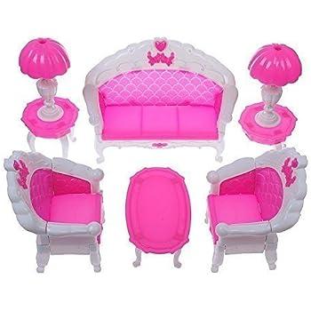 Amazon.com: Qiyun 7pcs Fashion Dressing Table And Chair Set For ...