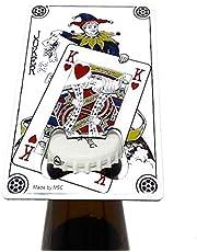 MSC Novelty Joker Credit Card Bottle Opener Stainless Steel