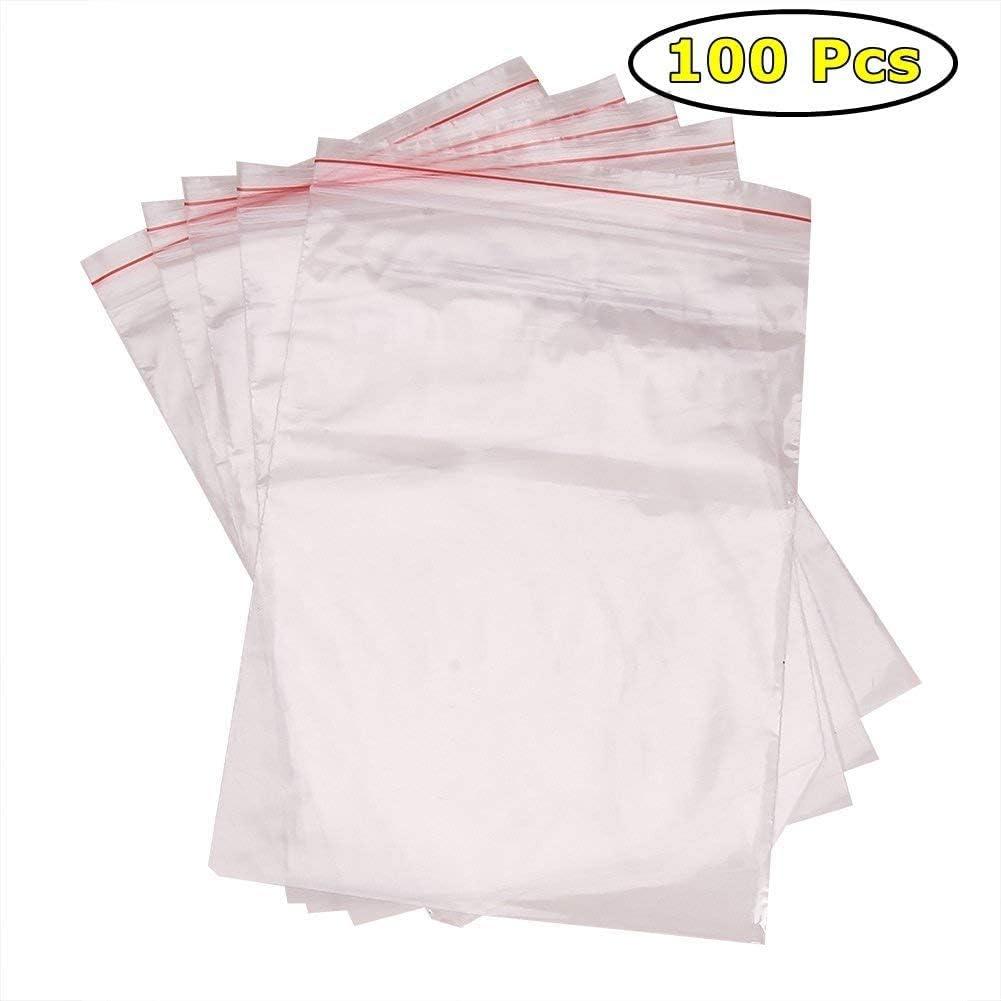 Bolsas de pl/ástico transparentes con cierre herm/ético 12X17 ITB Mall