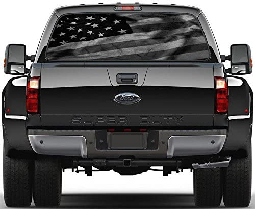 Black American Window Sticker 778 product image