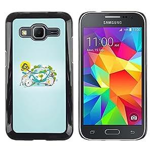 iKiki Tech / Estuche rígido - Smart Small Green Nature - Samsung Galaxy Core Prime SM-G360