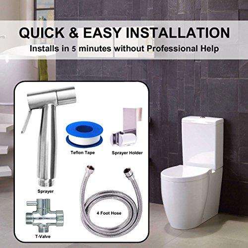Premium Stainless Steel Bathroom Handheld Bidet Toilet