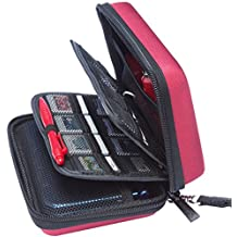 BRENDO New Nintendo 3DS XL / 3DS Hard Case with 24 Game Card Holders - Wine Red (Money Back Guarantee)