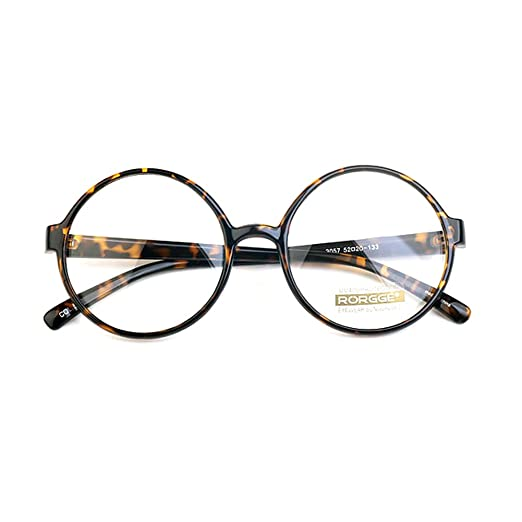 Retro Clothing for Men | Vintage Men's Fashion 1920s Vintage Eyeglasses Frames Oliver Round Frames 04R85 Leopard Unisex Eyewear Kpop Style £8.50 AT vintagedancer.com