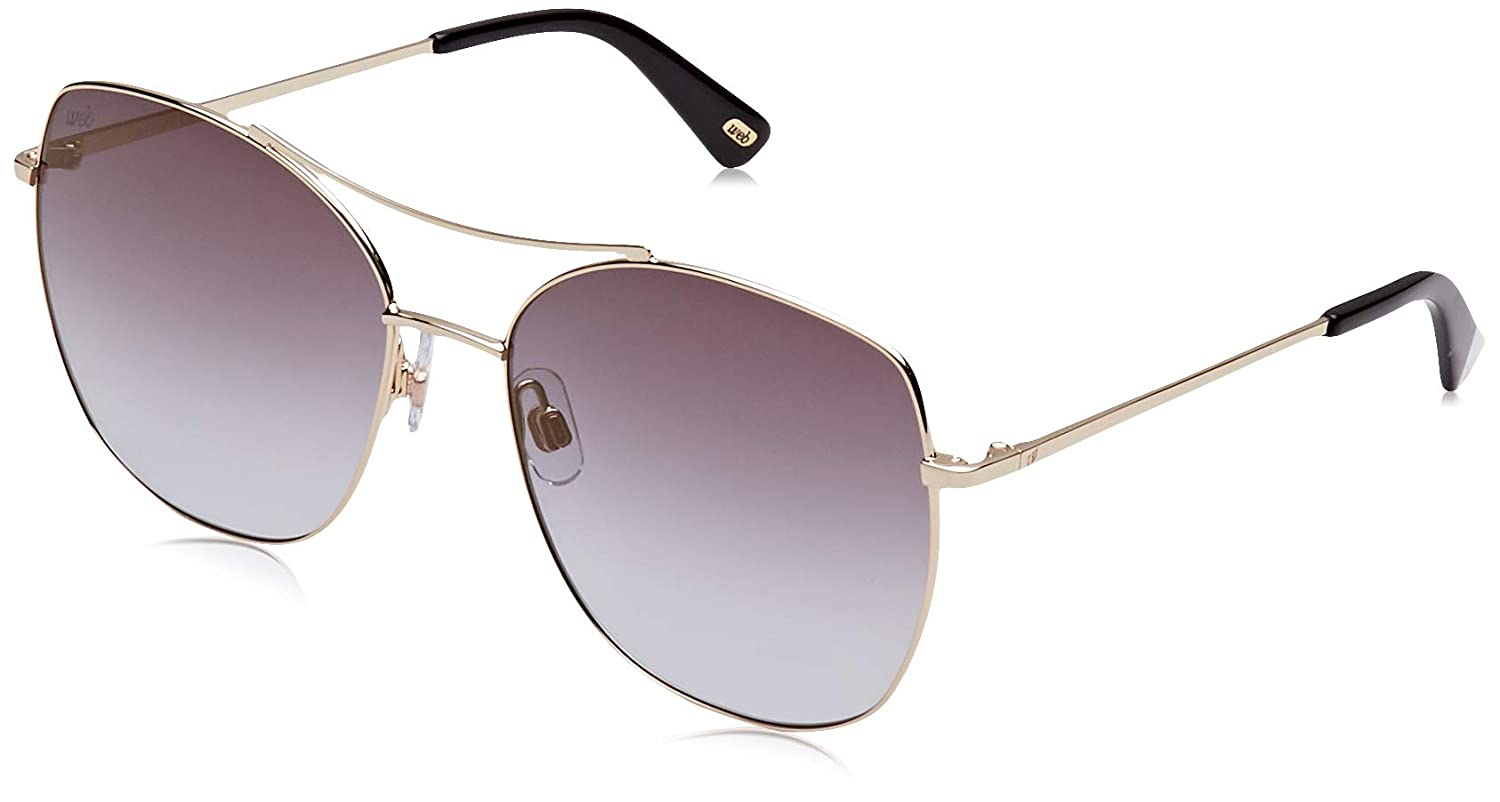 Web Women's WE0245 Sunglasses, (gold Brown Mirror), 58.0