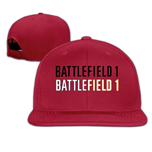 Price comparison product image Male / Female Battlefield 1 Clean Logo Cotton Flat Snapback Baseball Caps Adjustable Mesh Hat Baseball Caps Red One Size Fits Most