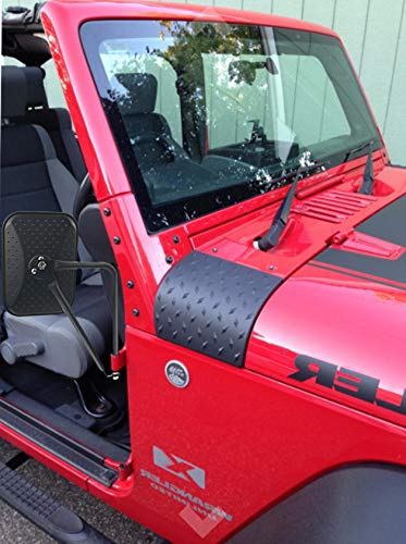 Bentolin Cowl Body Armor Powder Coated Finish Outer Cowling Cover for Jeep Wrangler JK Rubicon Sahara Sport X /& Unlimited 2//4 Door 2007-2018