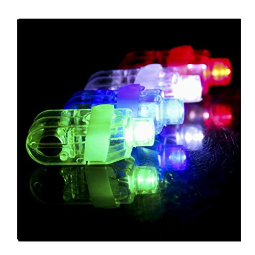 Euone 10PCS LED Light Up Flashing Finger Rings Glow Party...