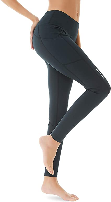 Coolomg Women S Yoga Pants 3 4 Compression Leggings Yoga Shorts With Deep Side Pockets Amazon Ca Clothing Accessories
