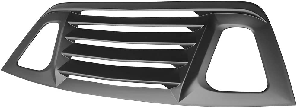 V2 Style,with Side Quarter Scoop Louvers Rear Window Louver Compatible With 2008-2019 Dodge Challenger IKON MOTORSPORTS