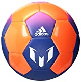 adidas Performance Messi Soccer Ball, Blue/Solar Orange/Shock Pink, Size 4