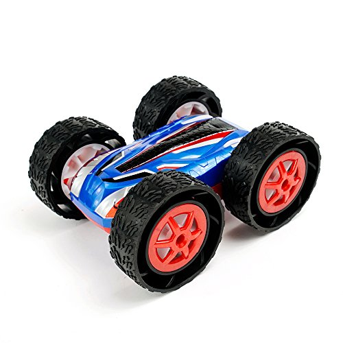 Jujuism Cyclone Romote Control Double Sided Rc Vehicle 360 Degree Flips Cars Off Road Spins Stunt Car Gift