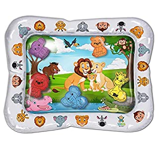Lion King Inflatable Tummy Time Toys- Premium Tummy Time Water Mat Activity Center for Baby Infant Toys and Toddlers, Promotes Visual Stimulation, Movement and Motor Skills. Perfect Smile and Fun Time