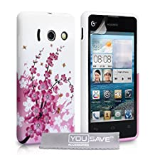 Huawei Ascend Y300 Case Floral Bee Silicone Gel Cover
