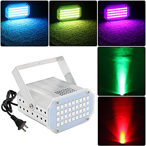 (LED Strobe Light 7 Color DJ Disco Lights GOOLIGHT Stage Party Flash Lights with Sound Activated and Speed Control for Birthday Parties Karaoke Band Club Bars Christmas Halloween Wedding)