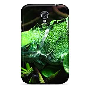 For M.box Galaxy Protective Case, High Quality For Galaxy S4 Green Iguana With Stripes Skin Case Cover