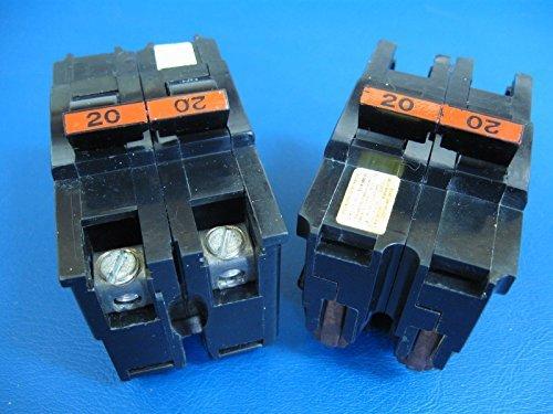 1- Federal Pacific 2 pole 20 amp circuit breaker NA NA220 THICK TYPE (Federal Pacific Electric Circuit Breaker)
