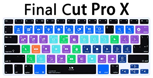 MMDW Final Cut Pro X Shortcuts Hot Keys Silicone Keyboard Cover Keyboard Skin for MacBook Pro 13