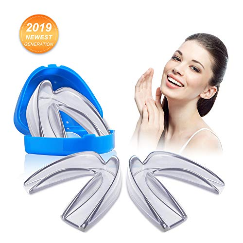 Raniaco Mouthguard- Set of 4 BPA Free Moldable, Customizable and Trimmable, Fits All Size Perfectly, for Teeth Grinding Clenching Bruxism, Sport Athletic, Whitening Tray