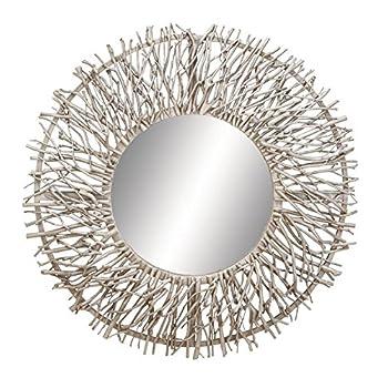 Benzara Wooden Branch Wall Mirror