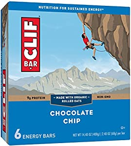 CLIF BAR - Energy Bar - Chocolate Chip - (2.4 Ounce Protein Bar, 6 Count)