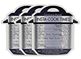 Instant Pot Cheat Sheet Magnets (3-Pack); Cooking Times for 16 Common Prep Functions