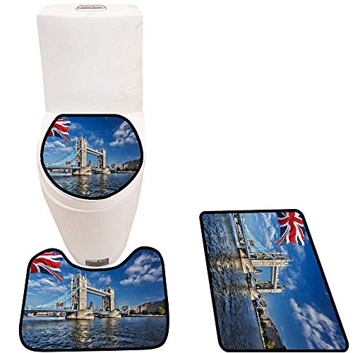 Toilet Cushion Suit Famous Tower Bridge Flag ENGL in London UK in Bathroom Accessories
