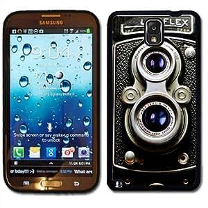 Samsung Galaxy Note 3 Black Rubber Silicone Case - Vintage Retro Rolliecord Camera Old School
