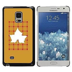 TopCaseStore / la caja del caucho duro de la cubierta de protección de la piel - Maple Golden Brown Plaid - Samsung Galaxy Mega 5.8 9150 9152