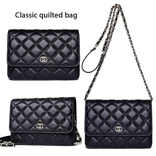 Crossbody Shoulder Purse Classic Handbags 6 Women NP2133 with Neverout Card Quilted Black for Slots Lamb Holder Leather Bag 5RfUn1wq