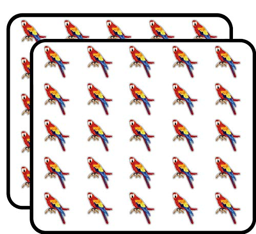 Macaw Parrot Art Decor Sticker for Scrapbooking, Calendars, Arts, Kids DIY Crafts, Album, Bullet Journals 50 Pack ()