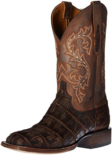 Lucchese Bootmaker Men's Malcom Western Boot, Chocolate, 10 D US (White Alligator Boots)
