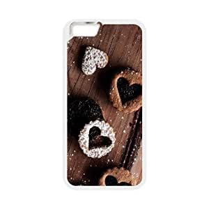IPhone 6 Plus Case Coffee Heart, IPhone 6 Plus Case Heart & Love, [White]