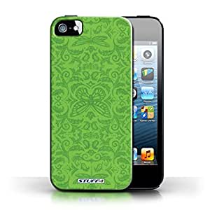 KOBALT? Protective Hard Back Phone Case / Cover for Apple iPhone 5/5S | Green Design | Insect Pattern Collection