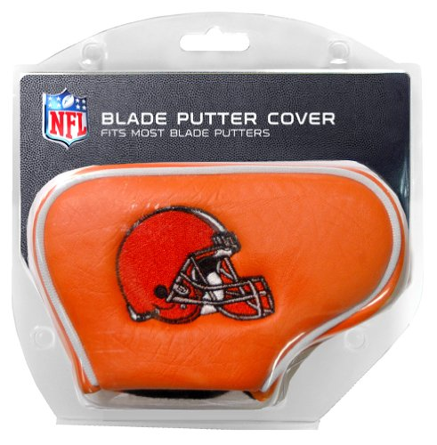 Team Golf NFL Cleveland Browns Golf Club Blade Putter Headcover, Fits Most Blade Putters, Scotty Cameron, Taylormade, Odyssey, Titleist, Ping, Callaway