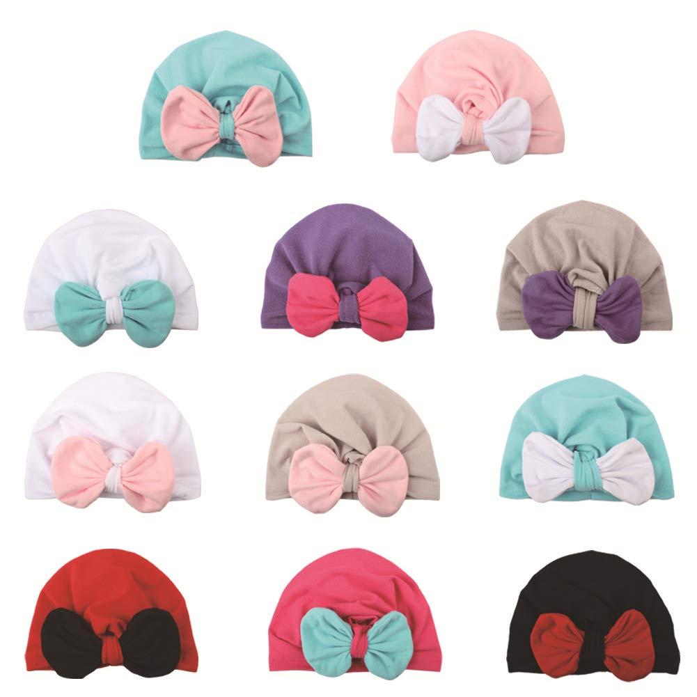 Beito Newborn Turbanti Cappelli Sveglia Molle Turbante dellArco della Fascia cap Ospedale Cappelli Hairband Capo Caps per Infant