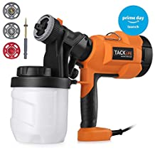 Spray Gun,Tacklife Paint Sprayer 800ml/min with Three Spray Patterns, Four Nozzle Sizes, Adjustable Valve Knob, Quick Refill Lid and 900ml Detachable Container | SGP15AC