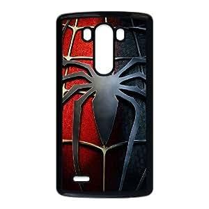 caja del teléfono celular LG G3 funda Negro araña logotipo N6V9FK