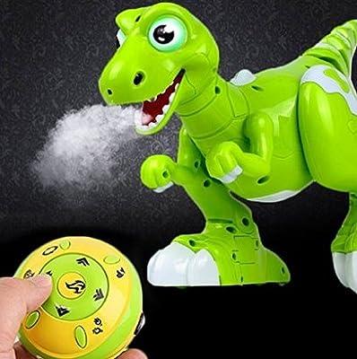 YEEZEE Wireless Remote Control Robot Dinosaur Interactive RC Dinosaur Toy Sprays Water Mist, Senses Gesture, Sings, Dances for Boys, Girls, Kids, Children