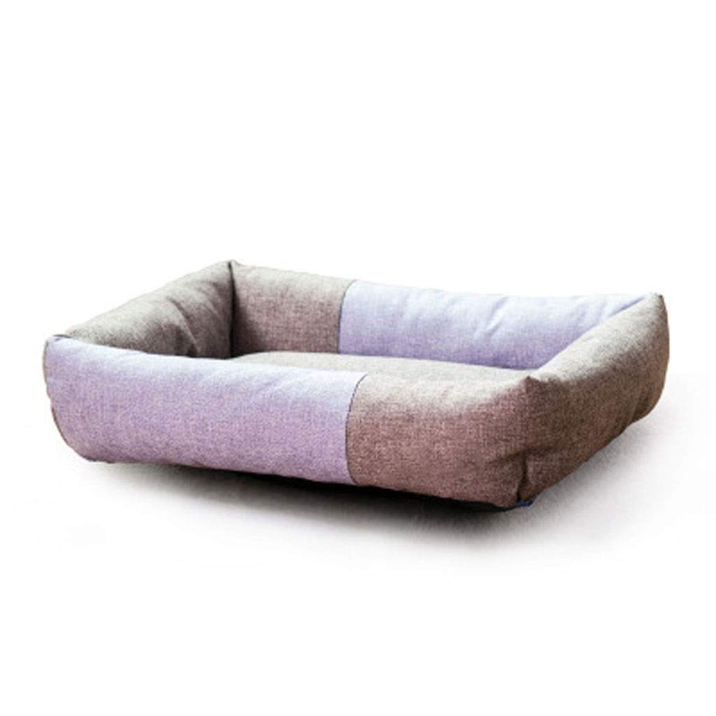 C S C S MSNDD Pet Nest Dog Cat House Oxford Cloth Waterproof And Bite Resistant Wear Easy To Clean Open Pet Nest (color   C, Size   S)