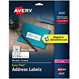 "Avery Glossy White Address Labels for Laser Printers, 1"" x 2-5/8"", 300 Labels (6525)"