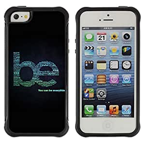 Hybrid Anti-Shock Defend Case for Apple iPhone 5 5S / Be Everything Cool