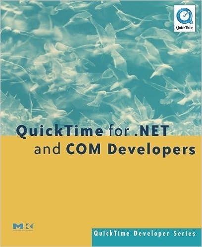 Amazon com: QuickTime for  NET and COM Developers (QuickTime