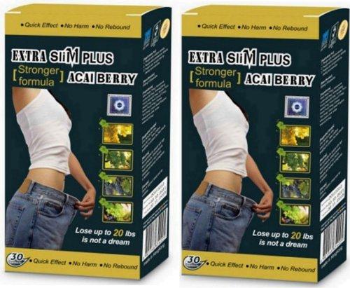 2 boîtes supplémentaires Slim Plus Acai Berry 60 gélules minceur (joint d'usine de Plastic + Scratch Off Code Anti Contrefaçon)