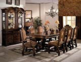 "Brand New 7-pc Neo Renaissance Dining Table (with 2x 18"" Leaf) and 2 Dining Arm Chairs and 4 Dining Side Chairs Set For Sale"