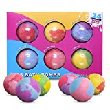 Extra Large 6x5oz Bath Bombs For Kids With Surprise Gift Toy Inside, Bubble Bath Foaming & Floating Fizzie Balls For Boys & Girls - Six Aromas Per Set, Safe Natural Organic Ingredients