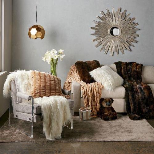Hudson Park Mongolian Plush Soft Faux Fur 50